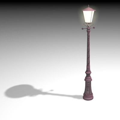lamp post amsterdam 3d model