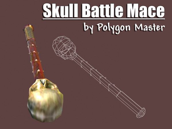 3ds max skull battle mace
