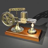 stirling motor 3d model