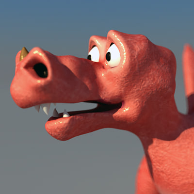 comic style dragon 3d model