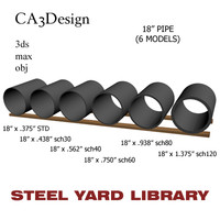 3d 18in pipe steel