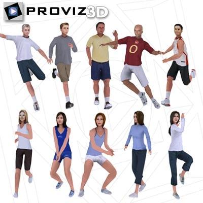 people: sports people 3d model
