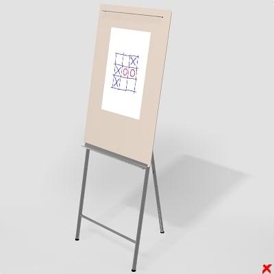 whiteboard board 3d 3ds