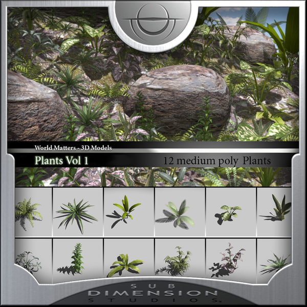 3d model plants world matters