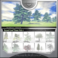 broadleaf tree world matters 3d model