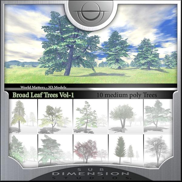 broadleaf tree world matters 3d model
