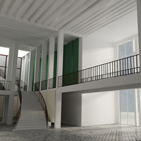 3d lounge interior