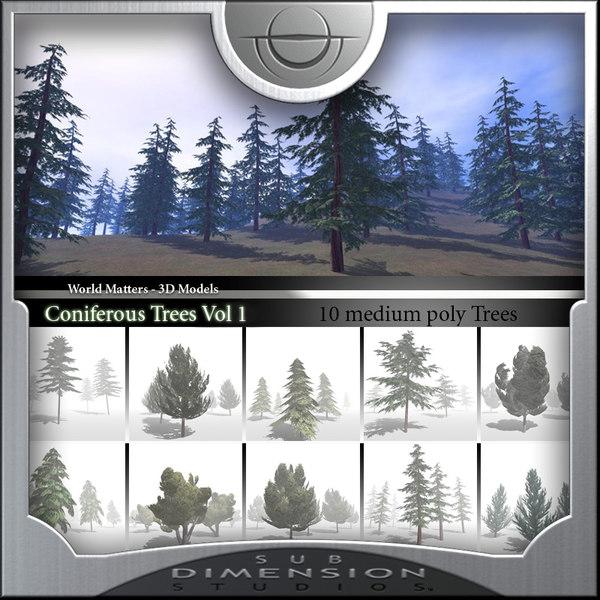 coniferous tree world matters 3d 3ds