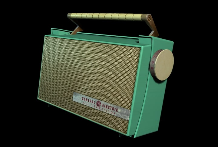 3d lwo 1960s transistor radio