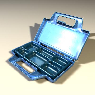 toolbox box tools 3d model
