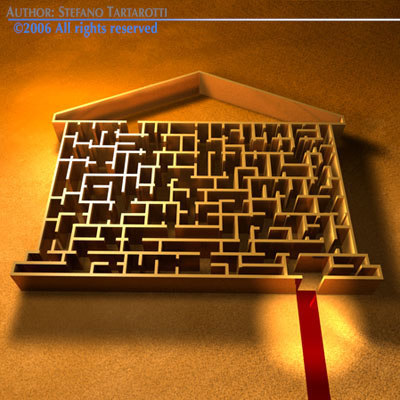 3ds max labyrinth house shape