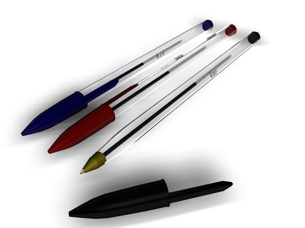 pens biros 3d model