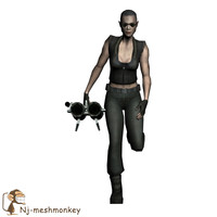 ready female soldier 3ds