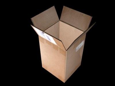 box hinged flaps 3d max