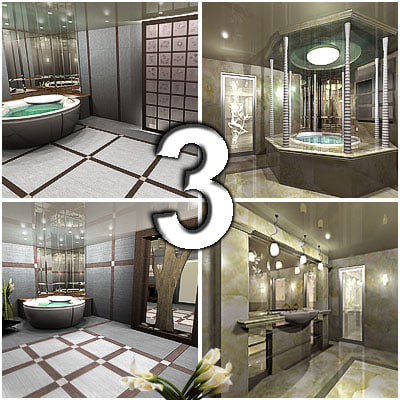 bath bathroom 3d model