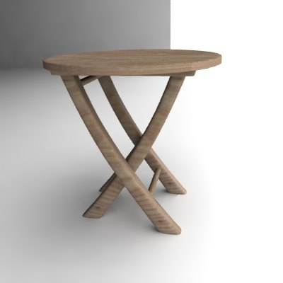 garden table 3d 3ds