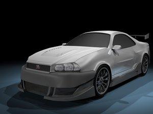 3d model nissan car sport