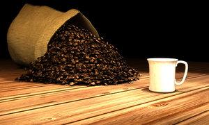 coffee bean 3d model