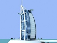 burjal arab skyscrapers buildings 3d model
