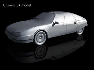 3d citroen cx car