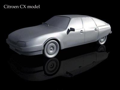 3d citroen cx car