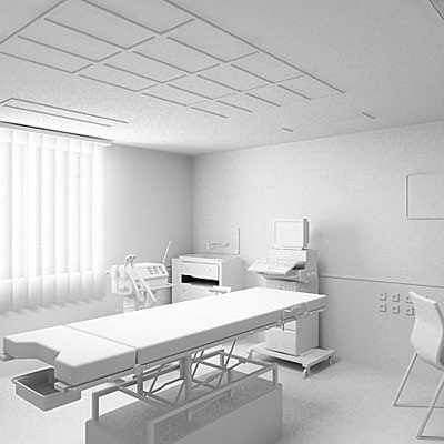 3d examination room model