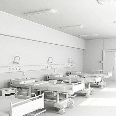 3d model ward hospital