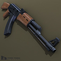 ak47 assault rifle 3d model
