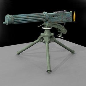 3d vickers maschine gun model