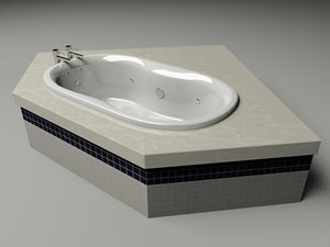 bath taps faucets jacuzzi 3d max