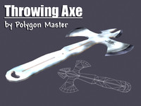 throwing axe 3d 3ds