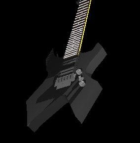 3d warlock guitar bc rich model
