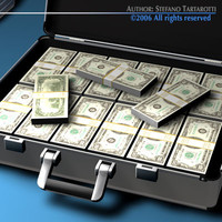 Suitcase with Dollars