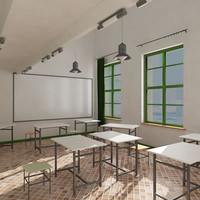 classroom interior 01 3d model