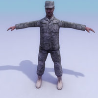 3d model usarmy pattern combat