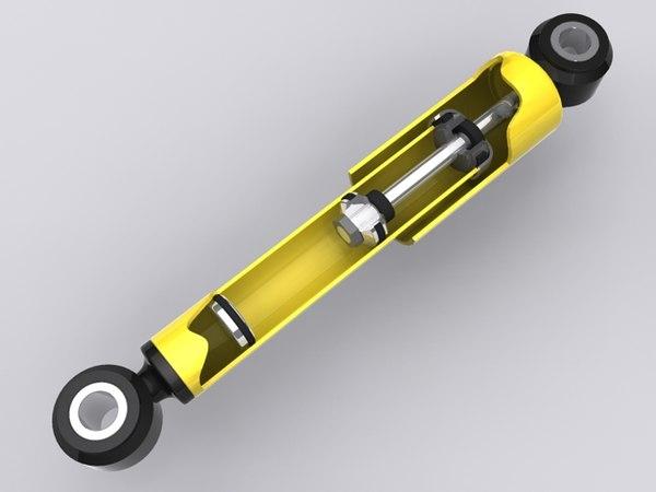 3d model shock absorber