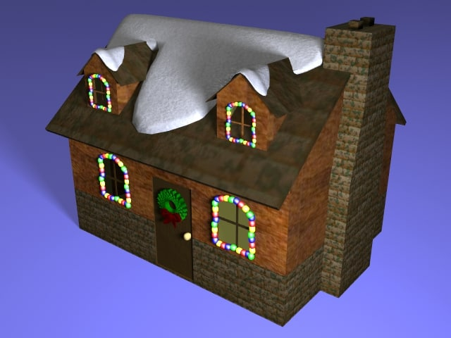 cottage holidays lightwave 3d model