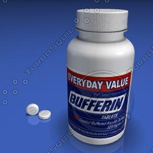 asprin bottle pills 3d model