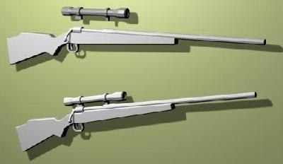 free rifle object-rifle01 3d model