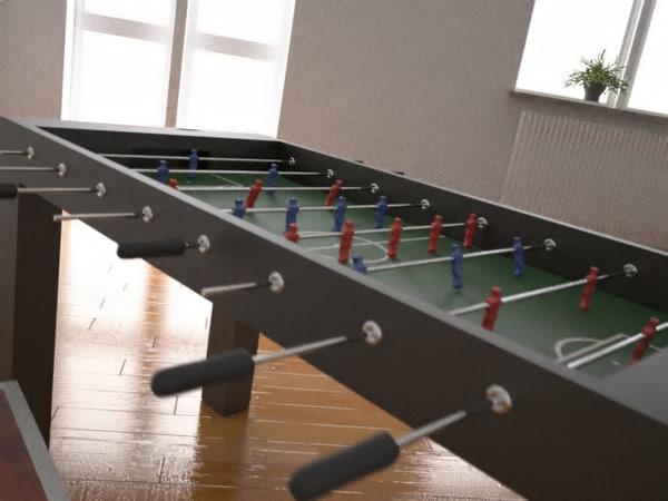 3d table soccer