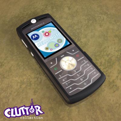 motorola cell phone 3d model