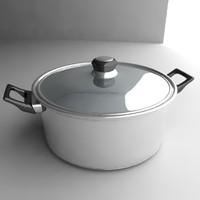 3d pot cookware model