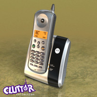 motorola cordless phone 3d 3ds