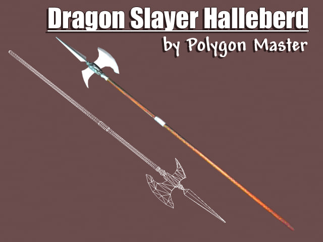 hallebard dragon slayers 3d model