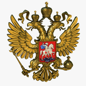 3d heraldry russia russian federation