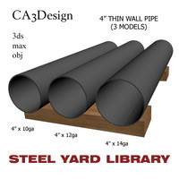 3d model of 4in pipe steel
