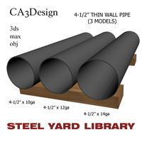 3d model 4-1 2in pipe steel