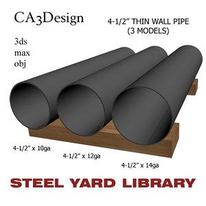 3d model 4-1 2in pipe steel