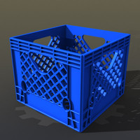 plastic milk crate 3d model