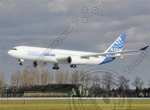 a350 airbus industrie 3d max
